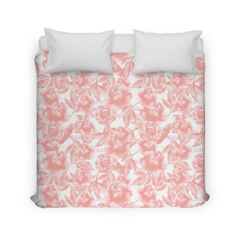 F*CK FEELINGS! CORAL Home Duvet by gasponce