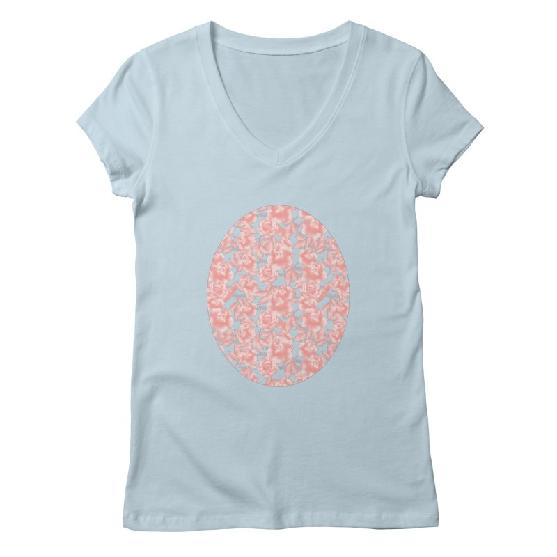 F*CK FEELINGS! CORAL Women's V-Neck by gasponce