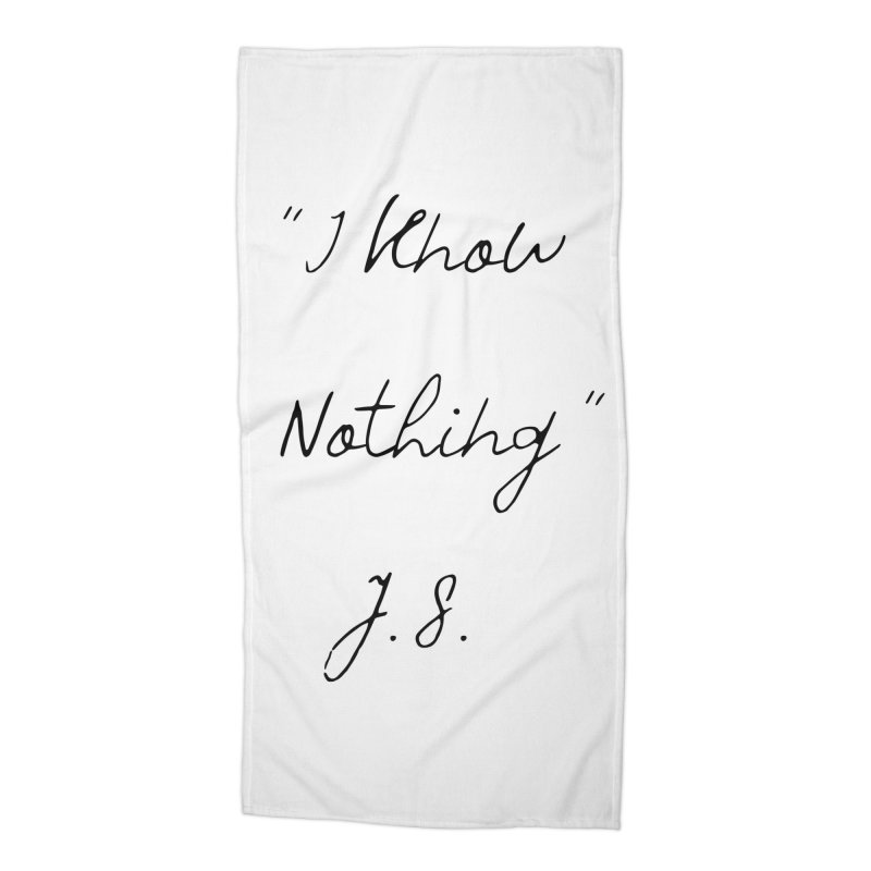 NOTHING! Accessories Beach Towel by gasponce