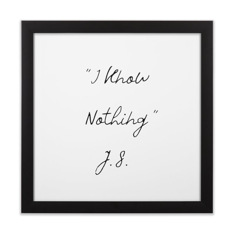 NOTHING! Home Framed Fine Art Print by gasponce