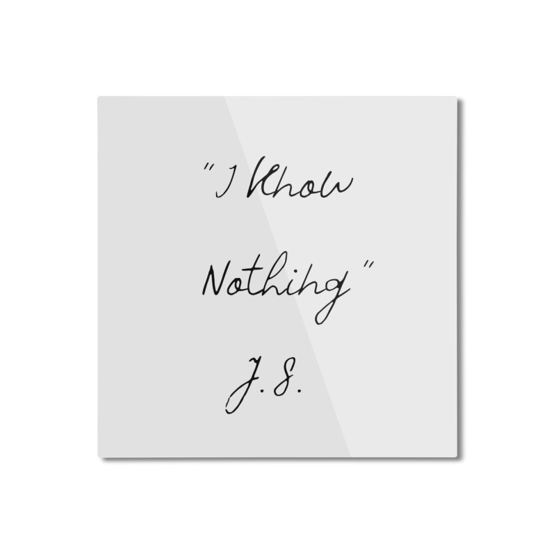 NOTHING! Home Mounted Aluminum Print by gasponce