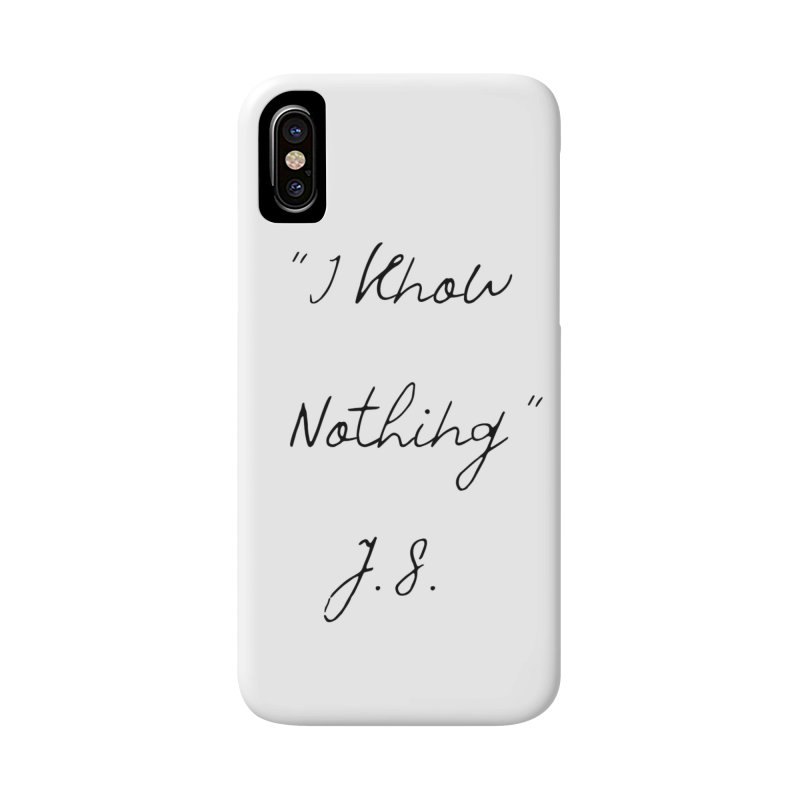 NOTHING! Accessories Phone Case by gasponce
