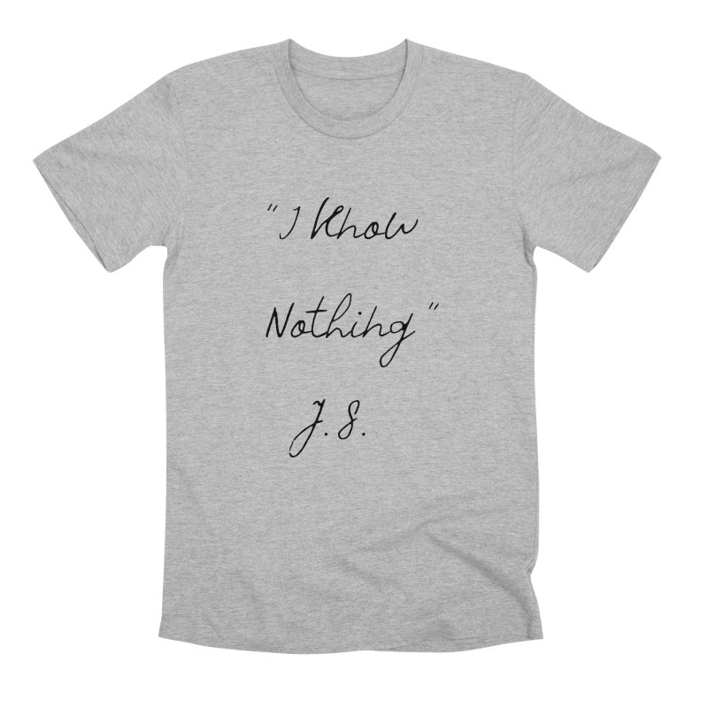 NOTHING! Men's Premium T-Shirt by gasponce