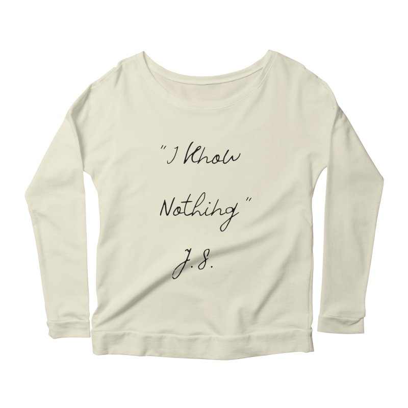 NOTHING! Women's Scoop Neck Longsleeve T-Shirt by gasponce