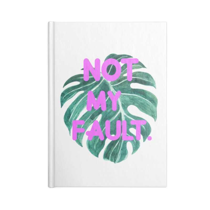 Fault! Accessories Blank Journal Notebook by gasponce