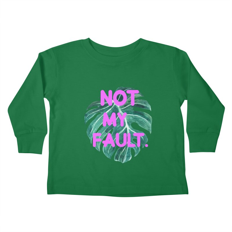 Fault! Kids Toddler Longsleeve T-Shirt by gasponce