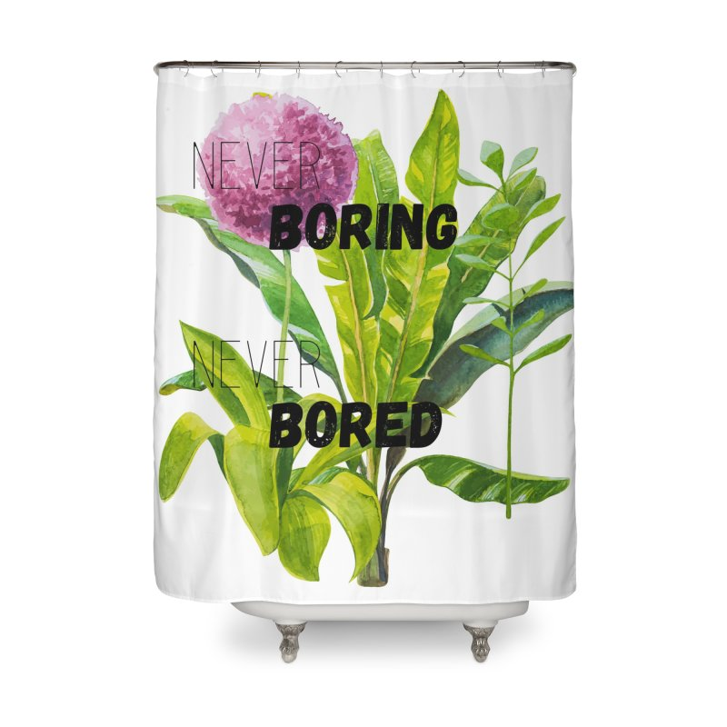 boring! Home Shower Curtain by gasponce