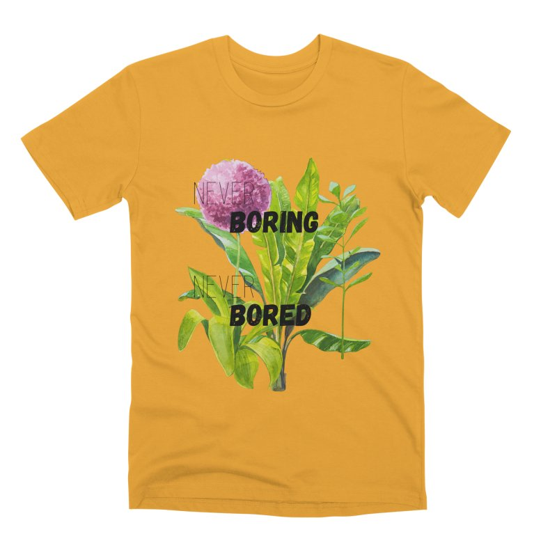 boring! Men's Premium T-Shirt by gasponce