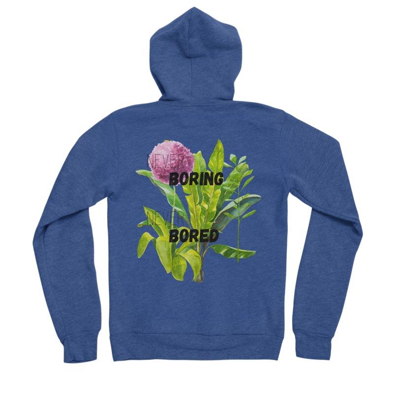 boring! Women's Sponge Fleece Zip-Up Hoody by gasponce