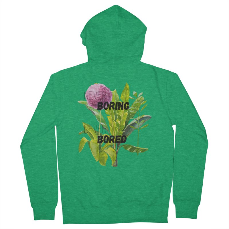 boring! Women's French Terry Zip-Up Hoody by gasponce