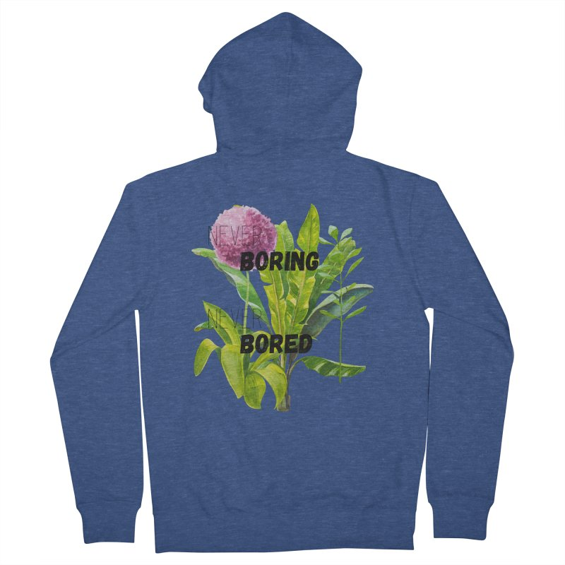 boring! Men's French Terry Zip-Up Hoody by gasponce