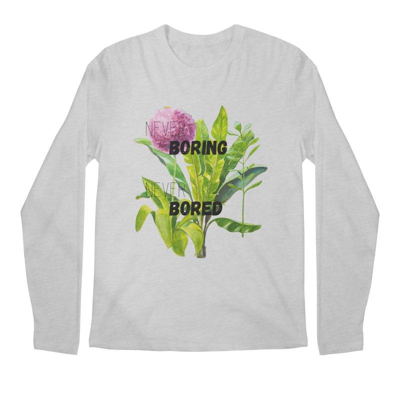 boring! Men's Regular Longsleeve T-Shirt by gasponce