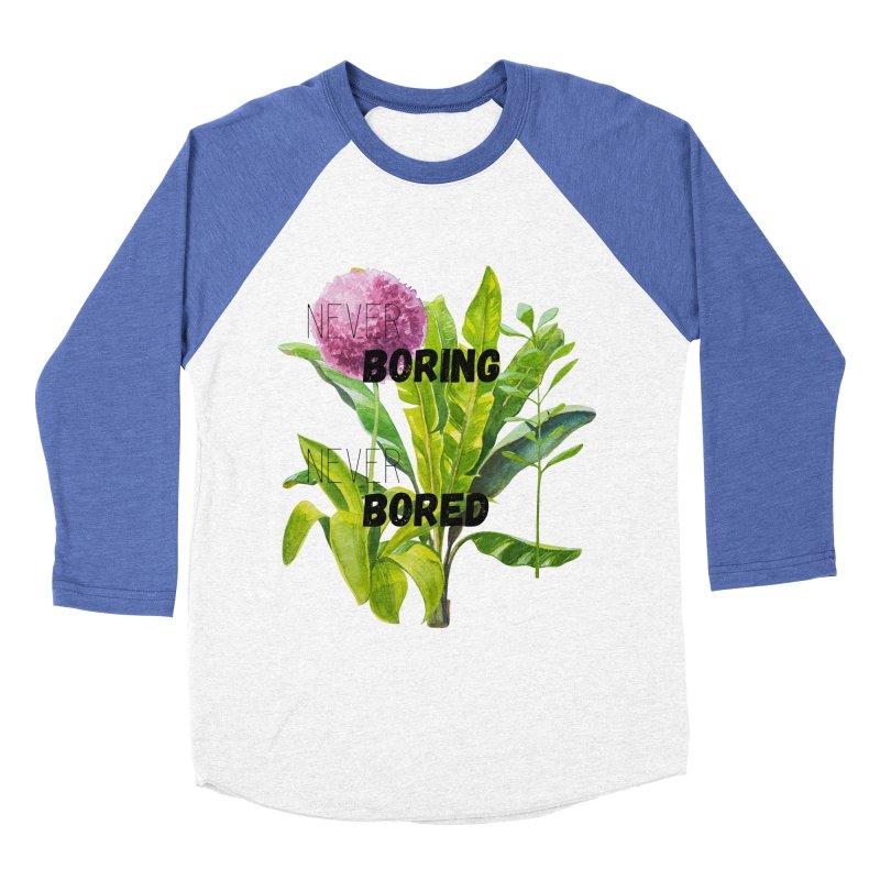 boring! Women's Baseball Triblend Longsleeve T-Shirt by gasponce