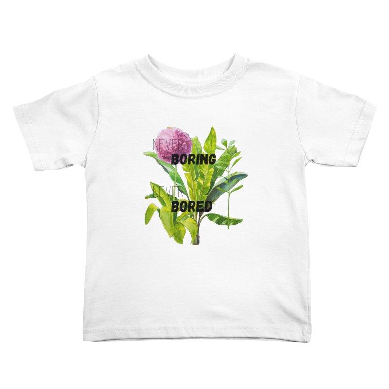 boring! Kids Toddler T-Shirt by gasponce