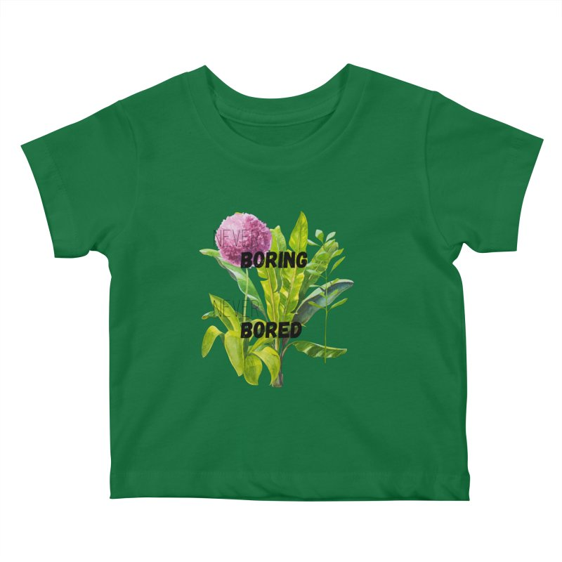 boring! Kids Baby T-Shirt by gasponce