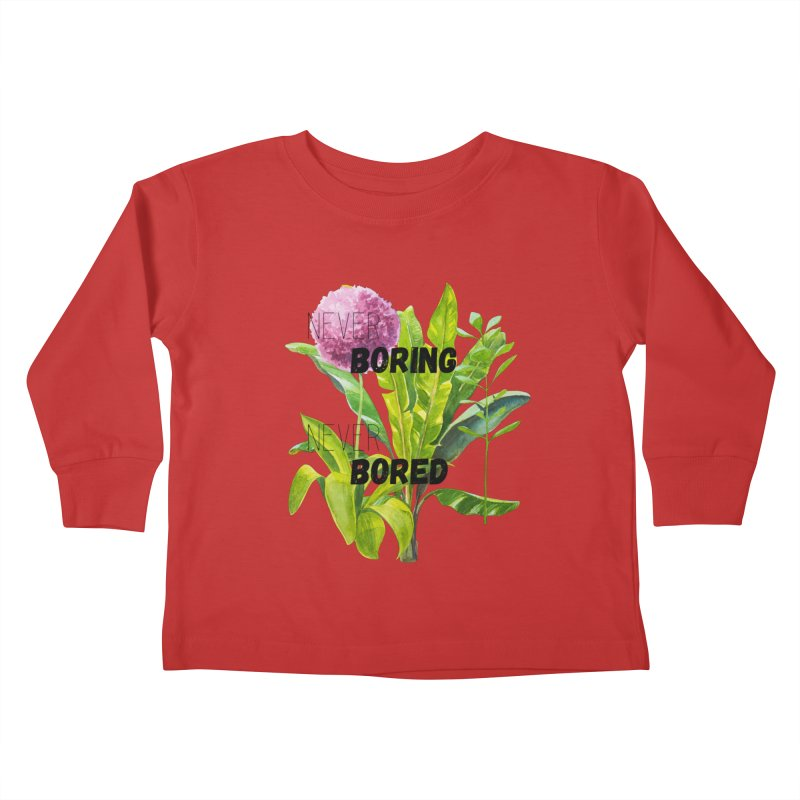 boring! Kids Toddler Longsleeve T-Shirt by gasponce