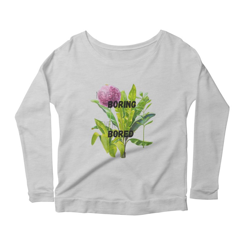 boring! Women's Scoop Neck Longsleeve T-Shirt by gasponce