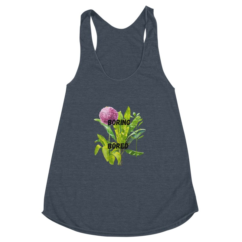 boring! Women's Racerback Triblend Tank by gasponce