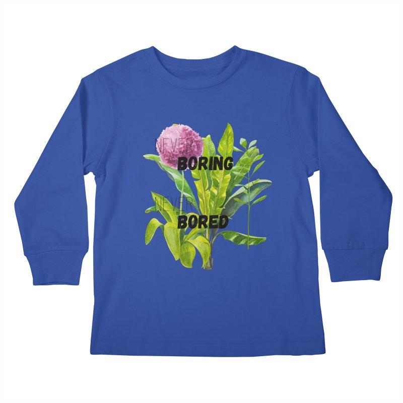 boring! Kids Longsleeve T-Shirt by gasponce