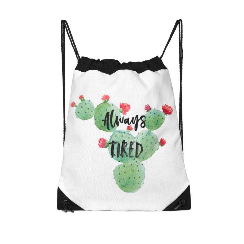 Tired! Accessories Drawstring Bag Bag by gasponce
