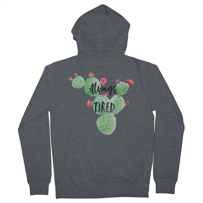 Tired! Men's French Terry Zip-Up Hoody by gasponce