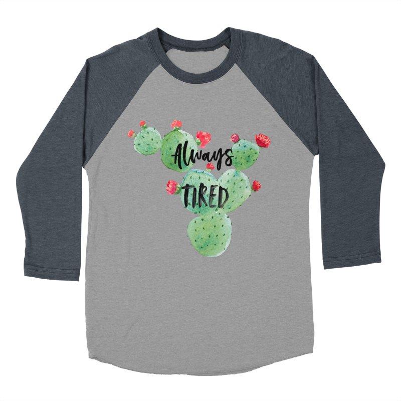 Tired! Women's Baseball Triblend Longsleeve T-Shirt by gasponce