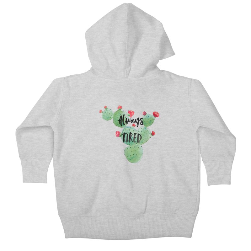 Tired! Kids Baby Zip-Up Hoody by gasponce