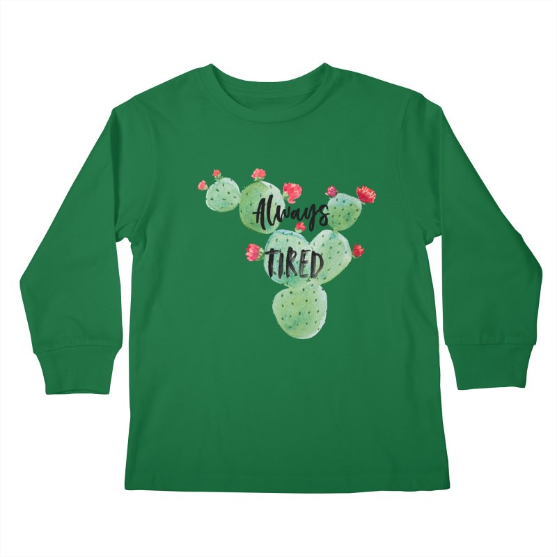 Tired! Kids Longsleeve T-Shirt by gasponce