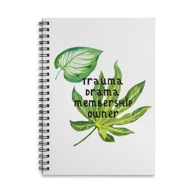 Trauma! Accessories Lined Spiral Notebook by gasponce