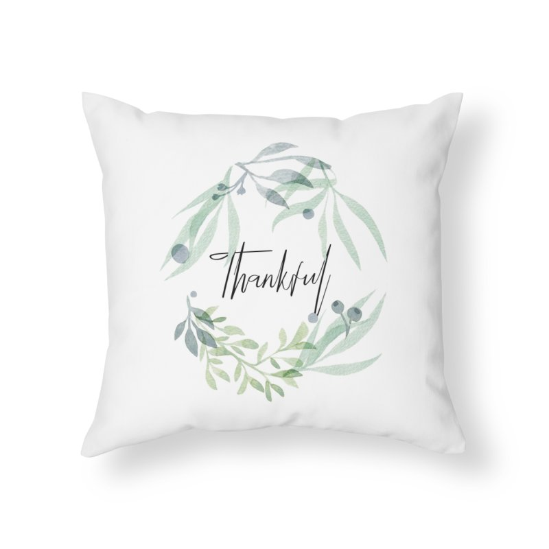 THANKS! Home Throw Pillow by gasponce