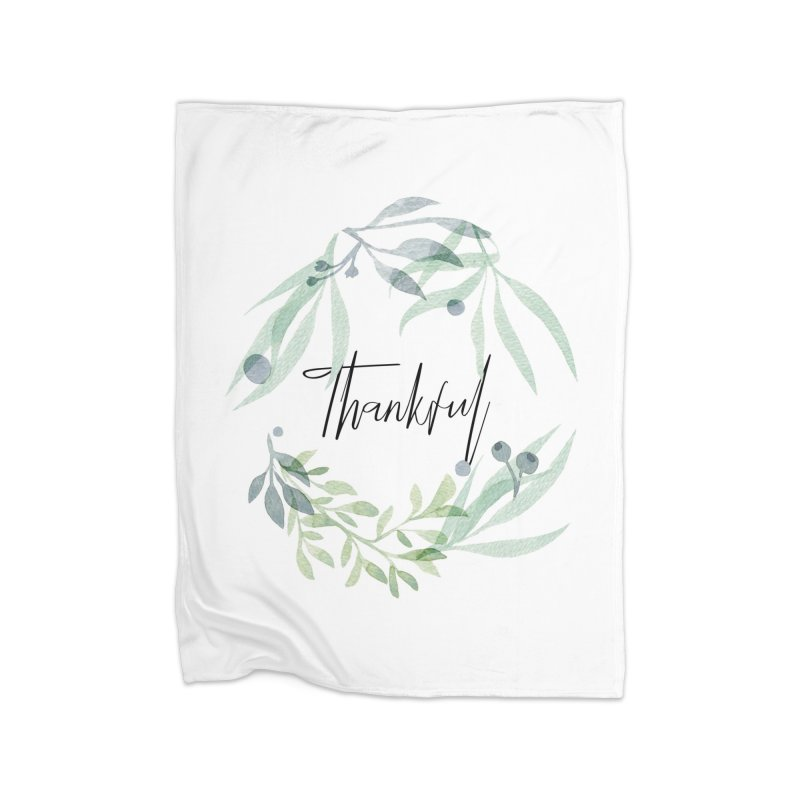 THANKS! Home Fleece Blanket Blanket by gasponce