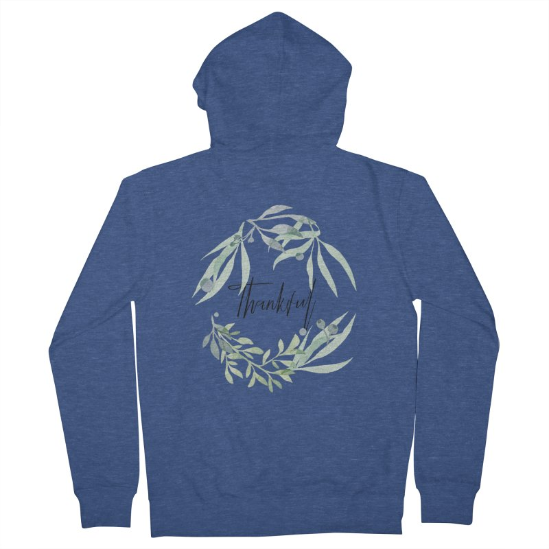 THANKS! Women's French Terry Zip-Up Hoody by gasponce