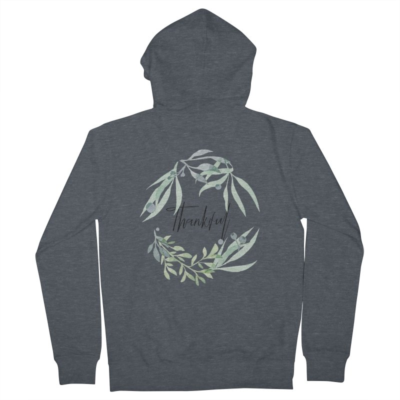 THANKS! Men's French Terry Zip-Up Hoody by gasponce