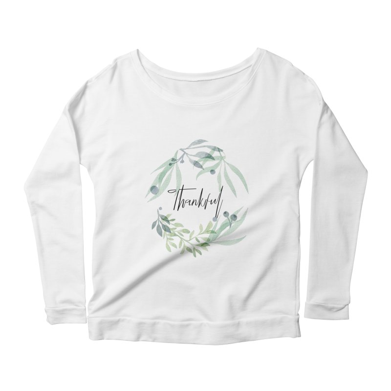 THANKS! Women's Scoop Neck Longsleeve T-Shirt by gasponce