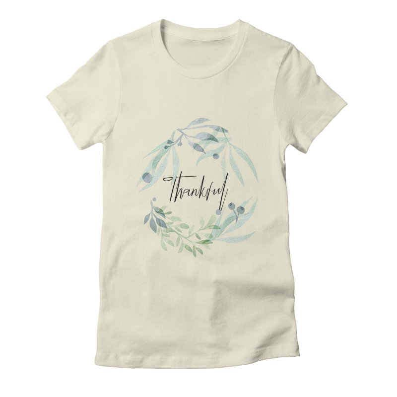THANKS! Women's Fitted T-Shirt by gasponce