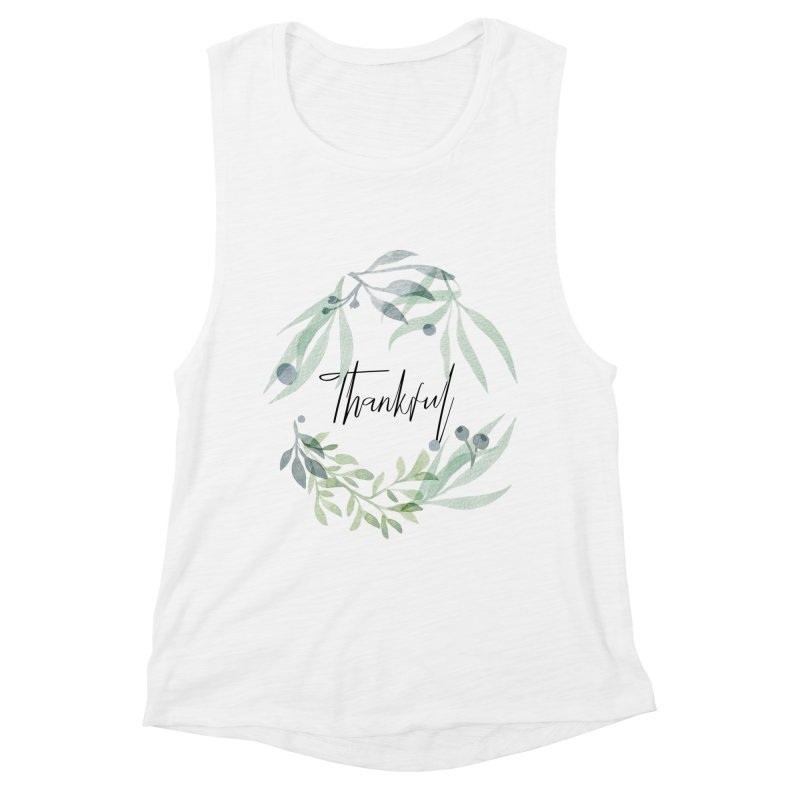 THANKS! Women's Muscle Tank by gasponce