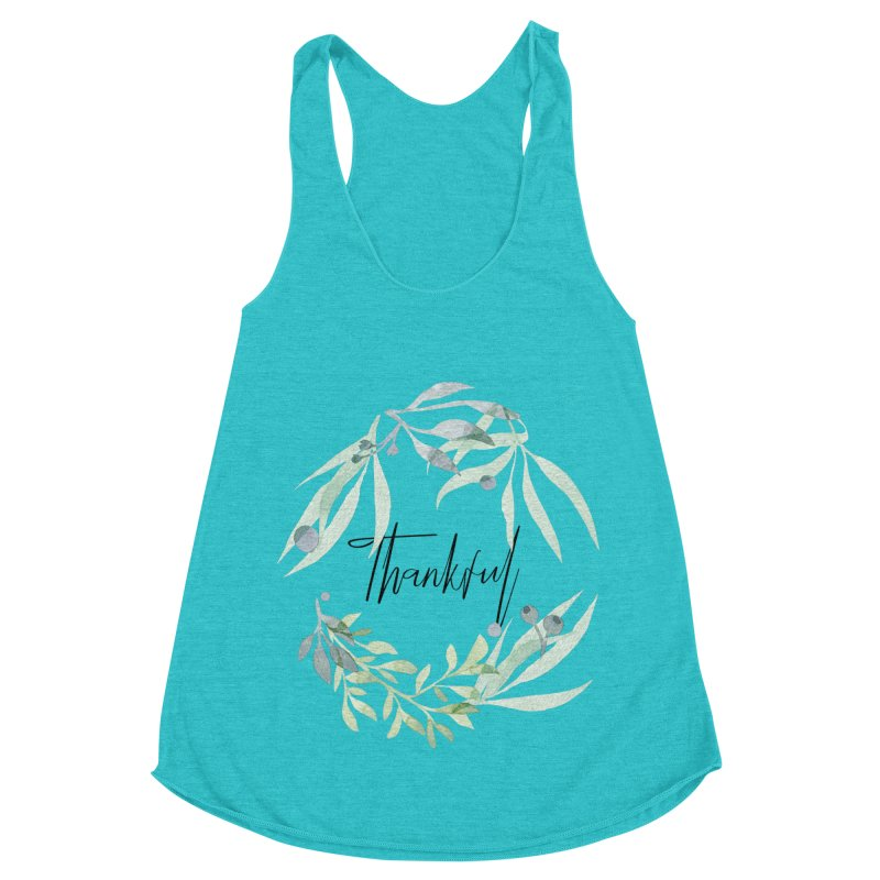 THANKS! Women's Racerback Triblend Tank by gasponce