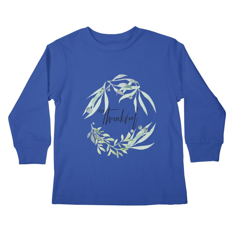 THANKS! Kids Longsleeve T-Shirt by gasponce