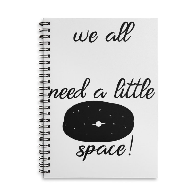 Space! Accessories Lined Spiral Notebook by gasponce
