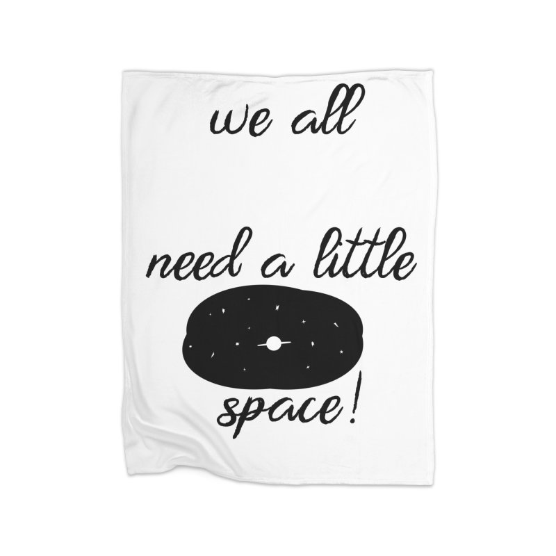 Space! Home Fleece Blanket Blanket by gasponce