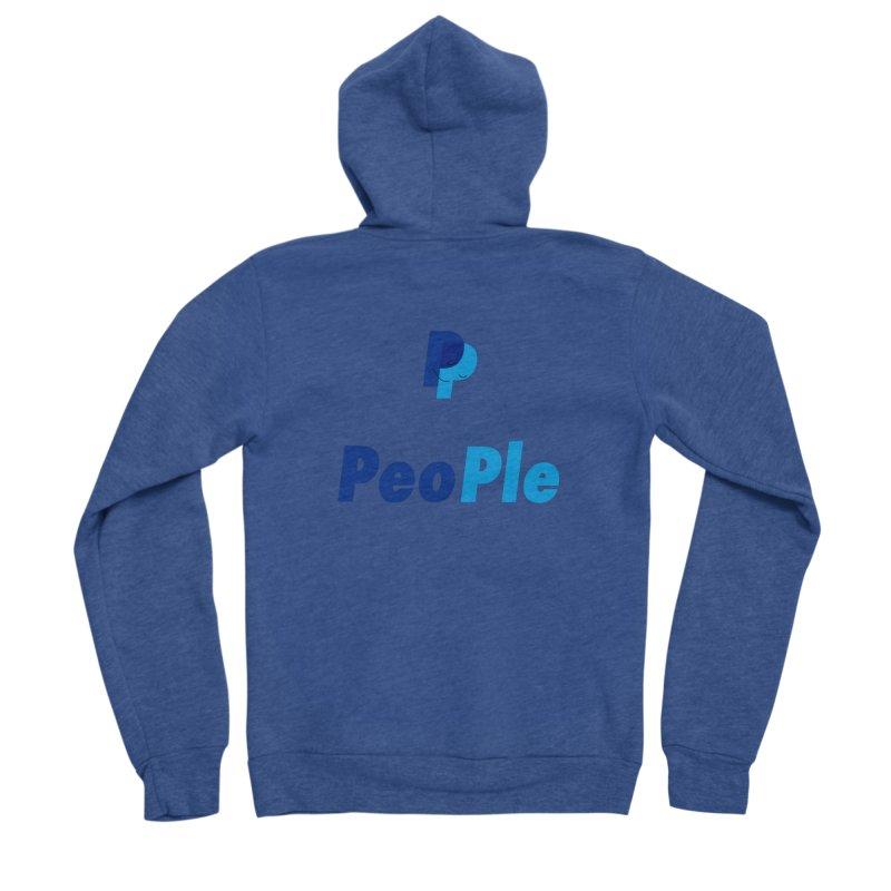People! Men's Sponge Fleece Zip-Up Hoody by gasponce