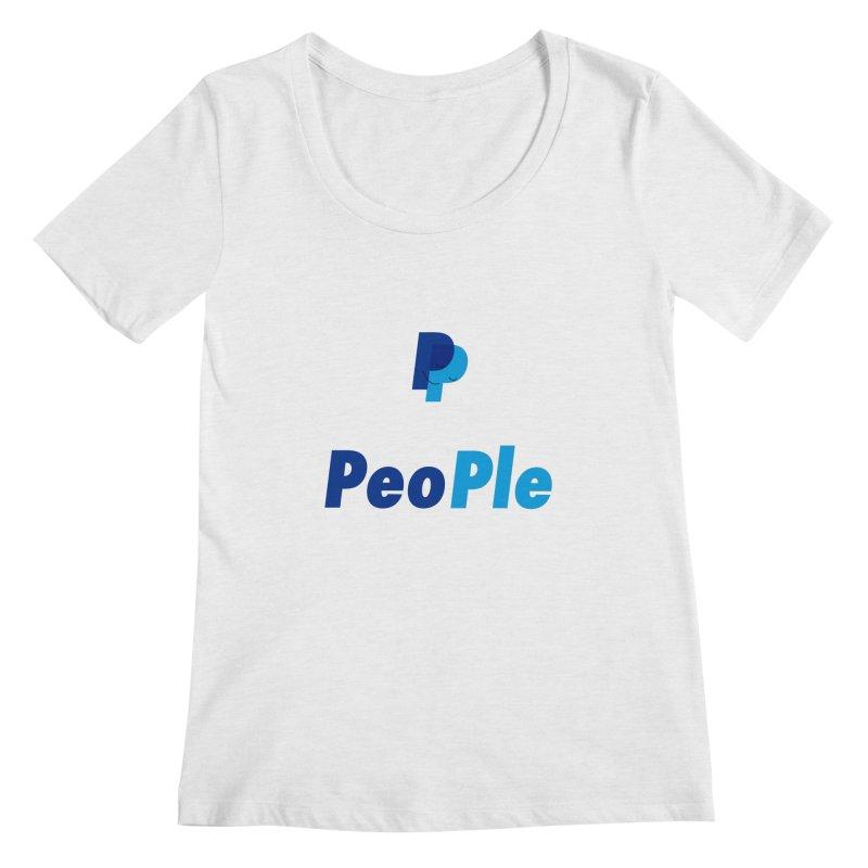 People! Women's Regular Scoop Neck by gasponce