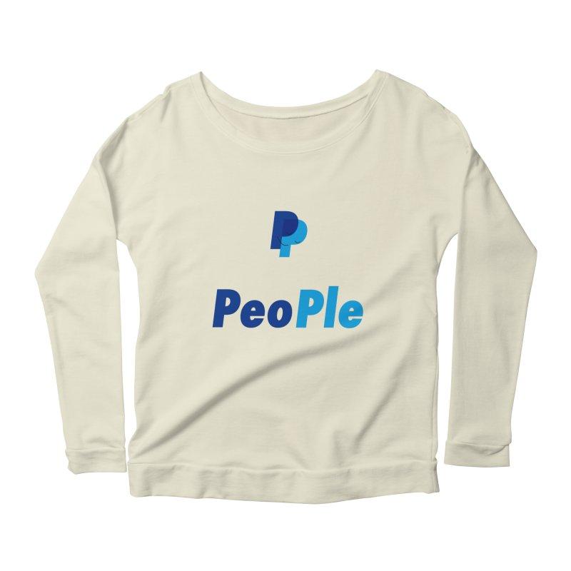 People! Women's Scoop Neck Longsleeve T-Shirt by gasponce