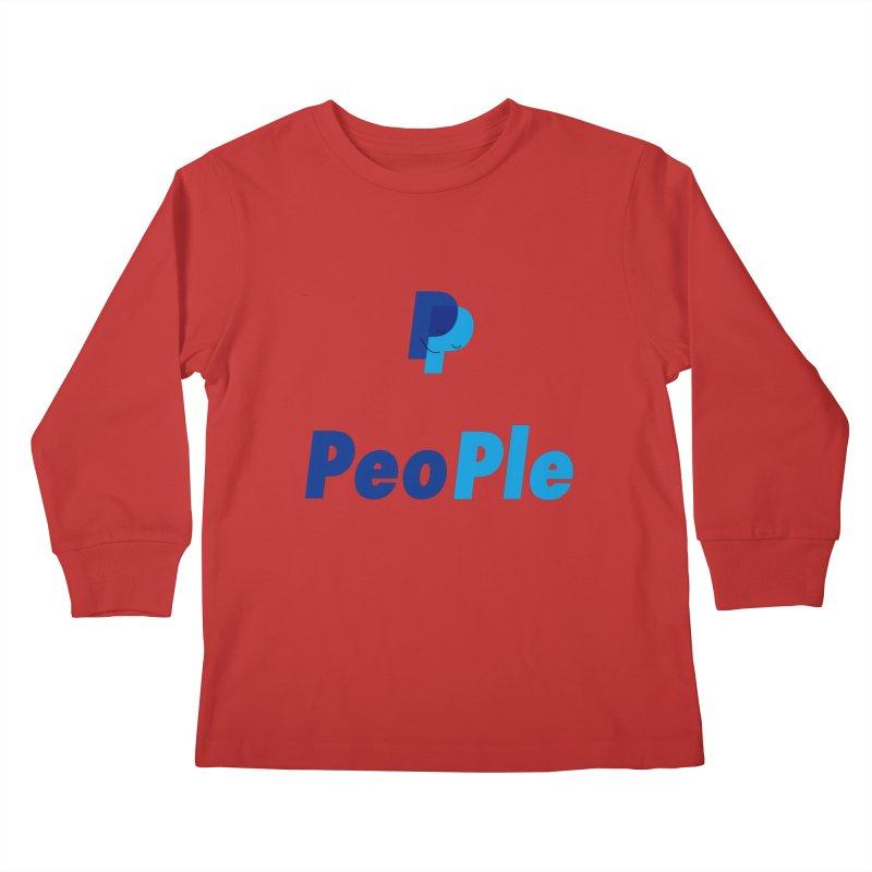 People! Kids Longsleeve T-Shirt by gasponce