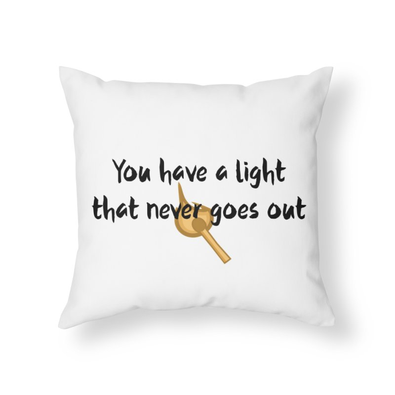 LIGHT! Home Throw Pillow by gasponce