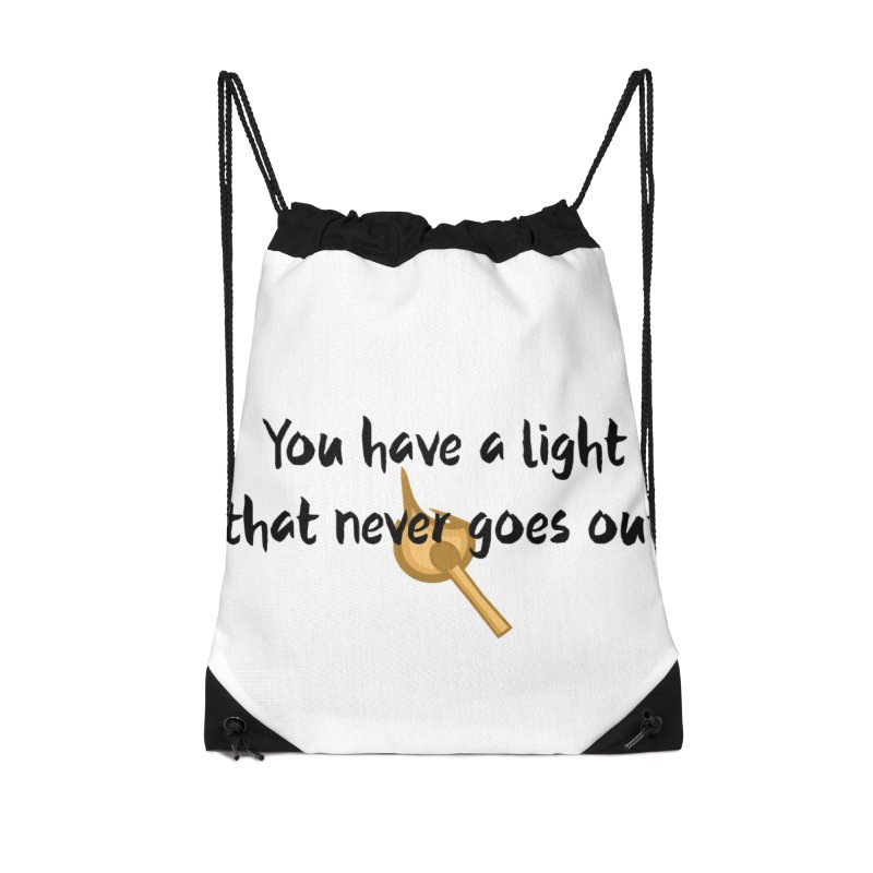 LIGHT! Accessories Drawstring Bag Bag by gasponce