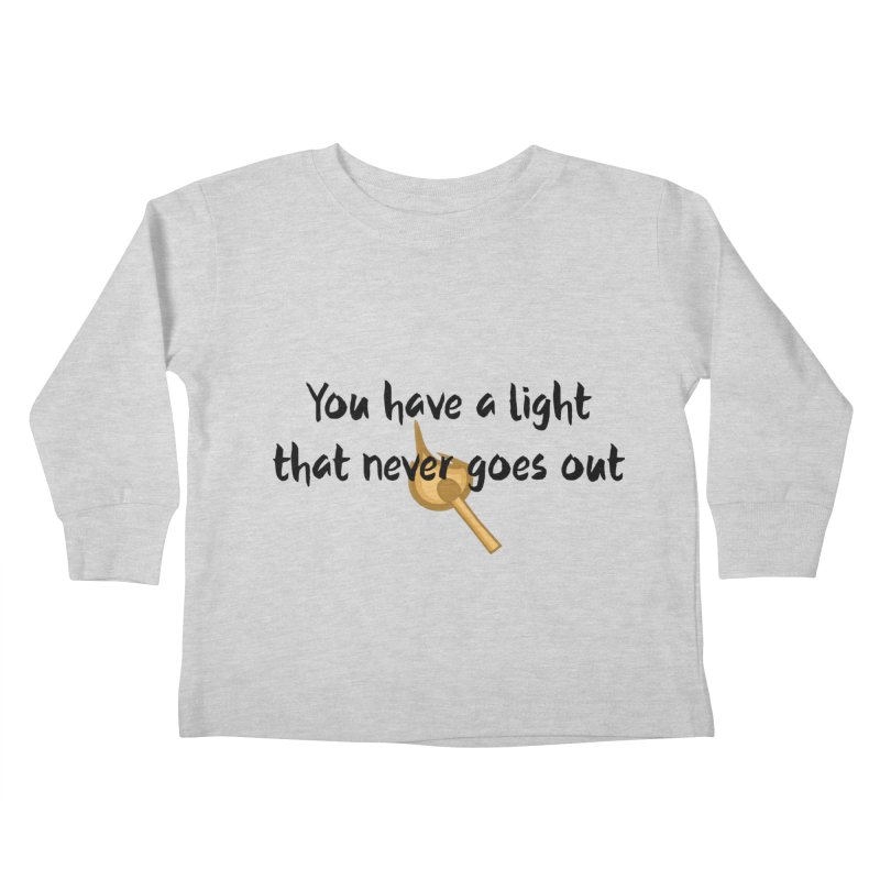 LIGHT! Kids Toddler Longsleeve T-Shirt by gasponce