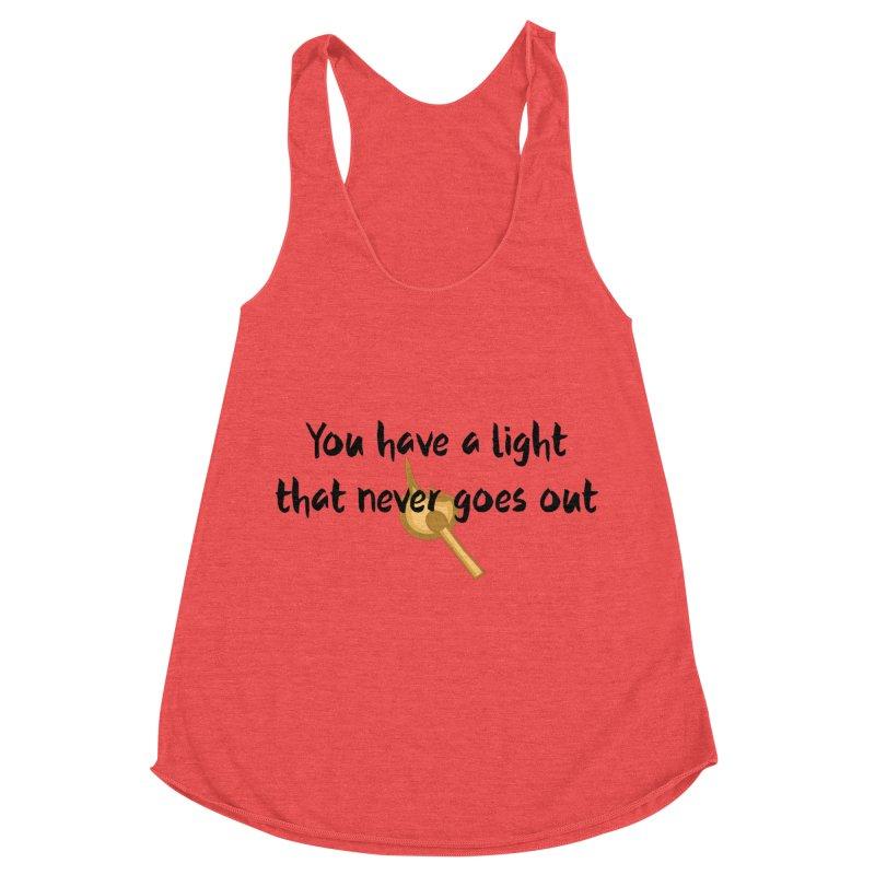 LIGHT! Women's Racerback Triblend Tank by gasponce