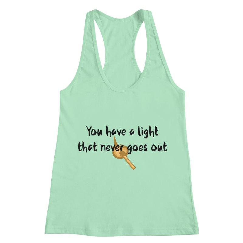LIGHT! Women's Racerback Tank by gasponce