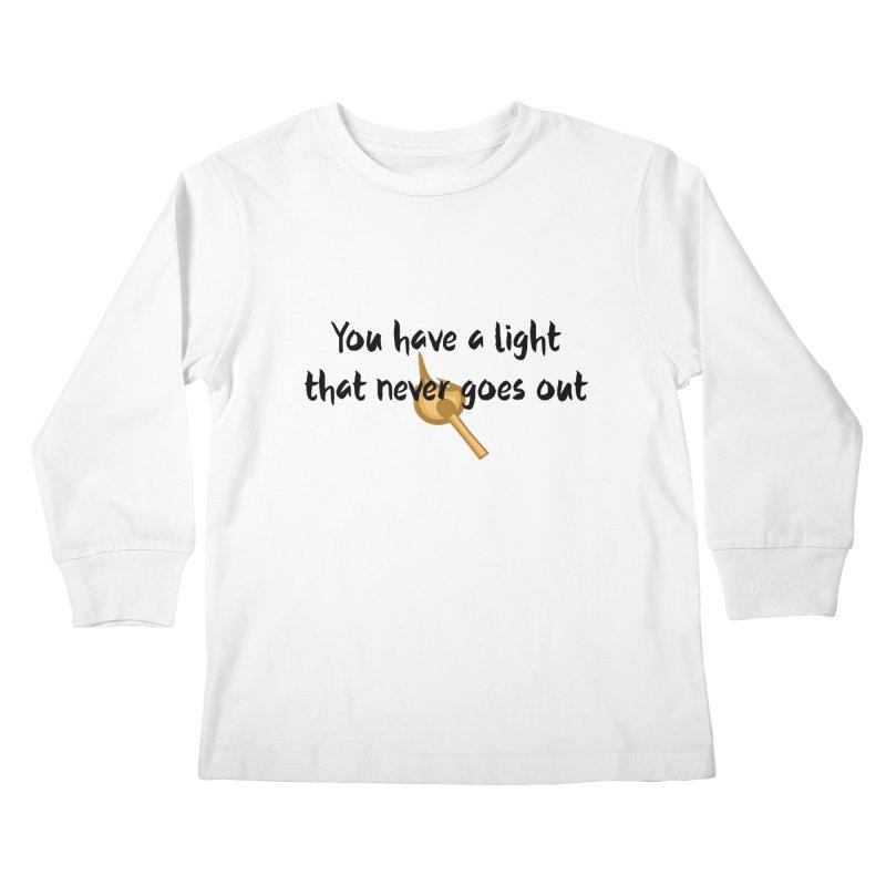 LIGHT! Kids Longsleeve T-Shirt by gasponce